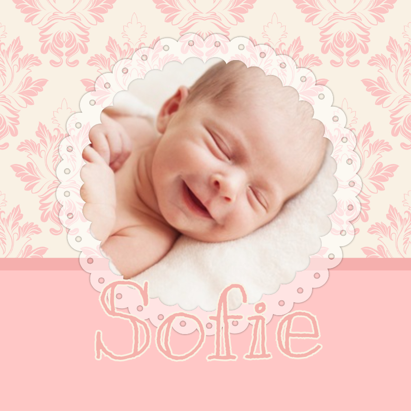 Geboortekaartje lief barok 1LS3 1