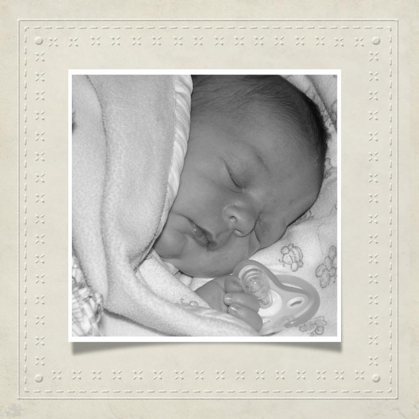 Geboortekaartje lijst Wit 1LS3 2