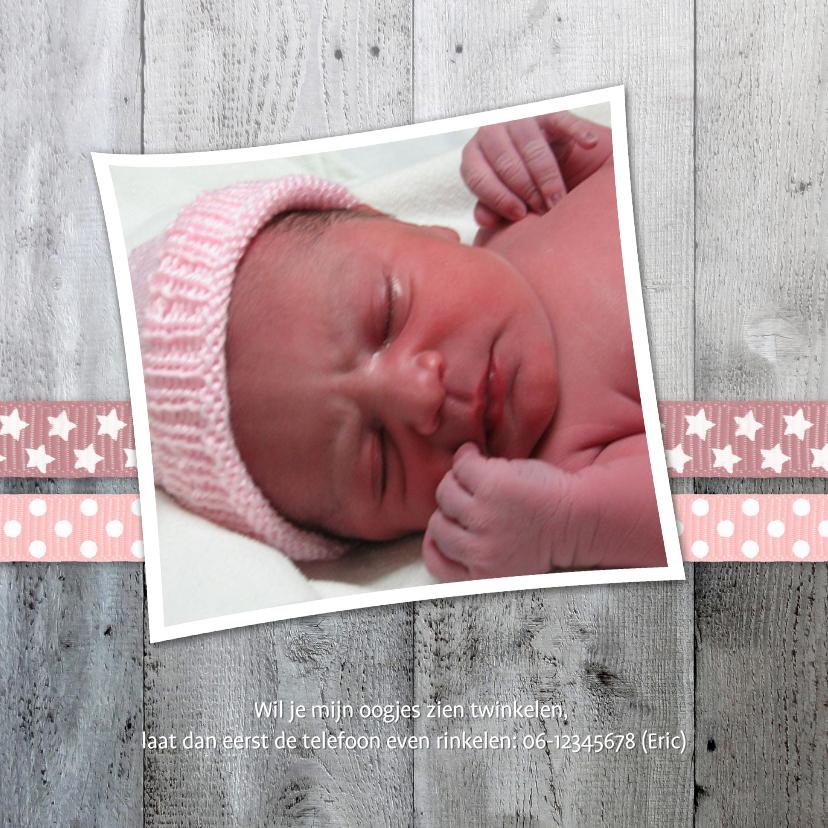 Geboortekaartje Lintjes Hout 2