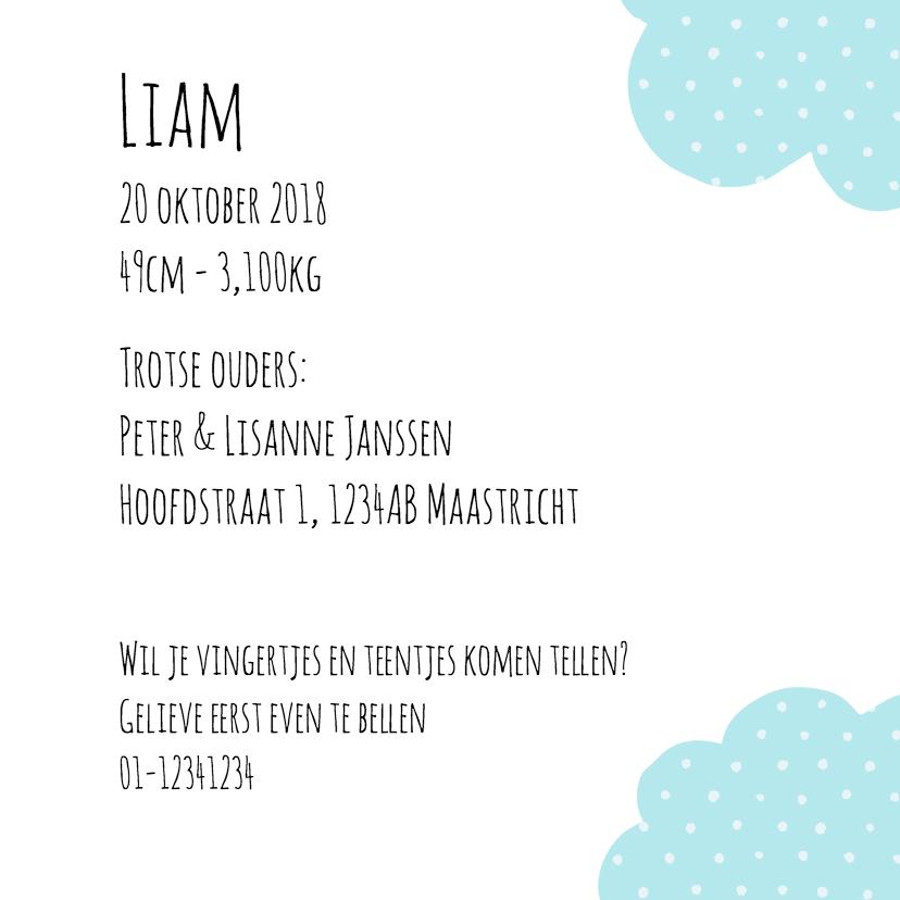 Geboortekaartje Loading Liam 3