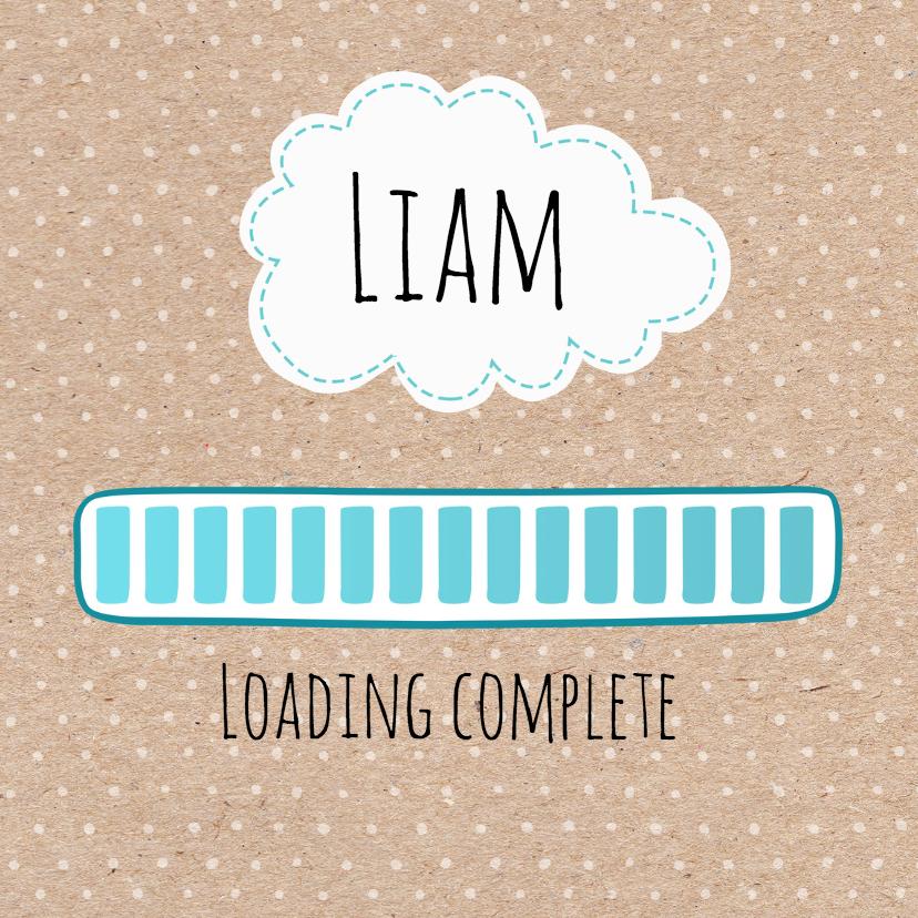 Geboortekaartje Loading Liam 1