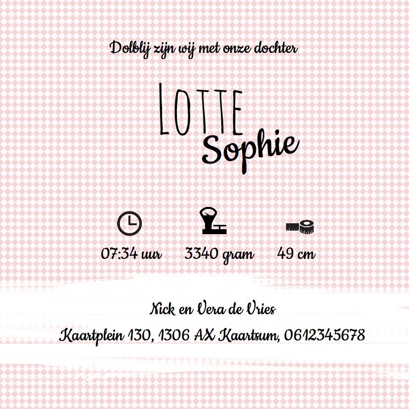 Geboortekaartje Lotte - LO 3