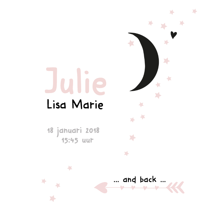Geboortekaartje Maan Julie 3