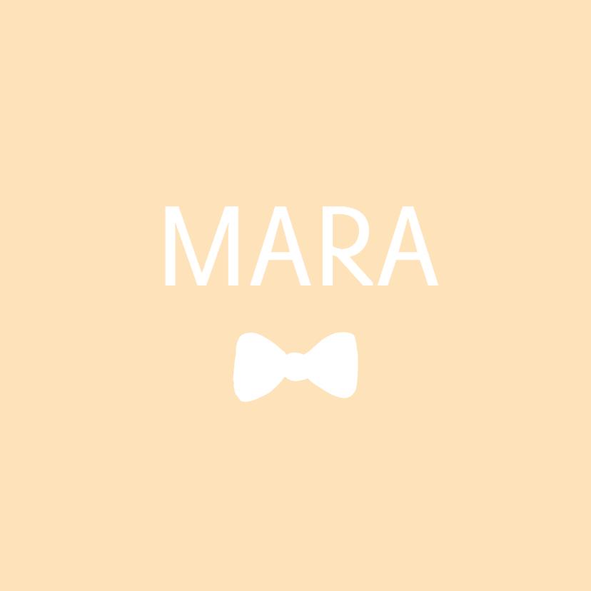 Geboortekaartje Mara - HM 1