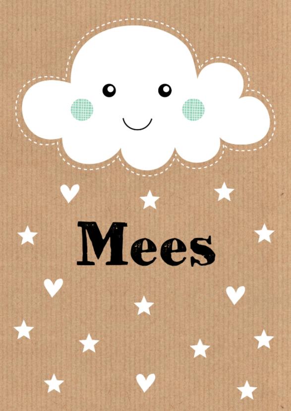 Geboortekaartje Mees wolk LB 1