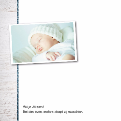 Geboortekaartje meisje Jill 2