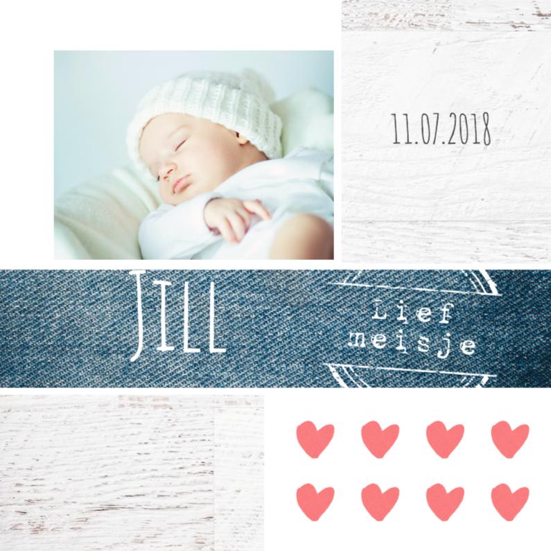 Geboortekaartje meisje Jill 1