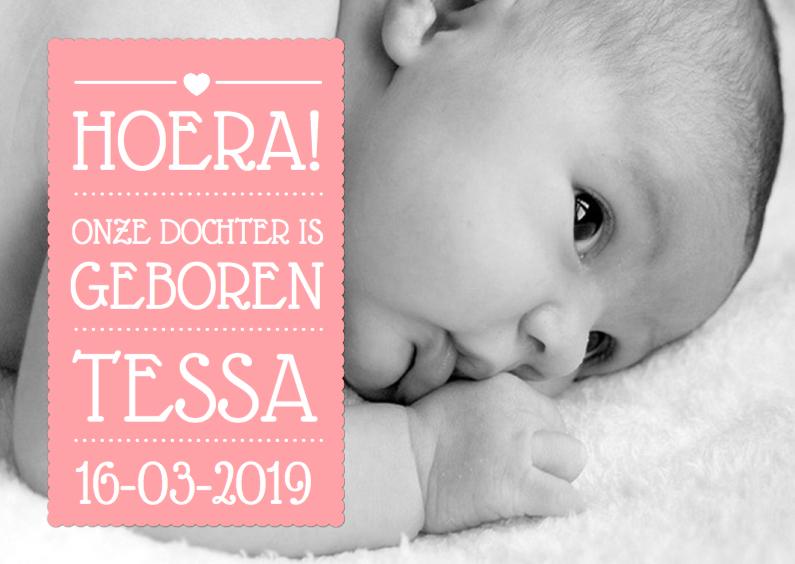 Geboortekaartje Meisje Tekst 1