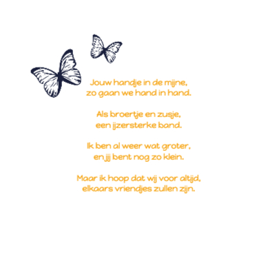 Geboortekaartje Meisje Vlinder 2