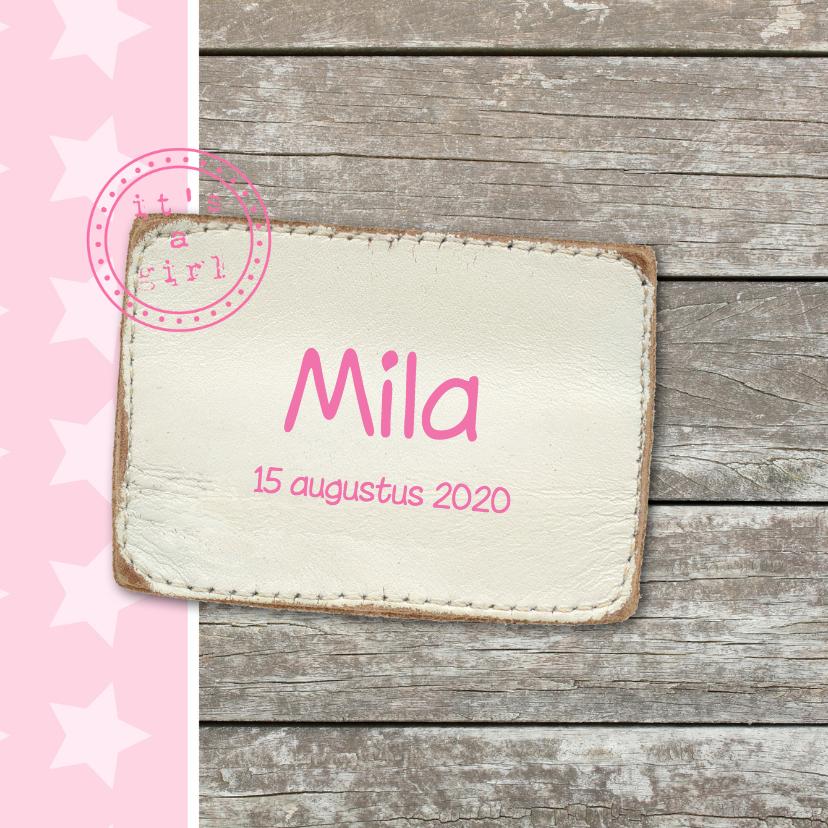 Geboortekaartje Mila 1