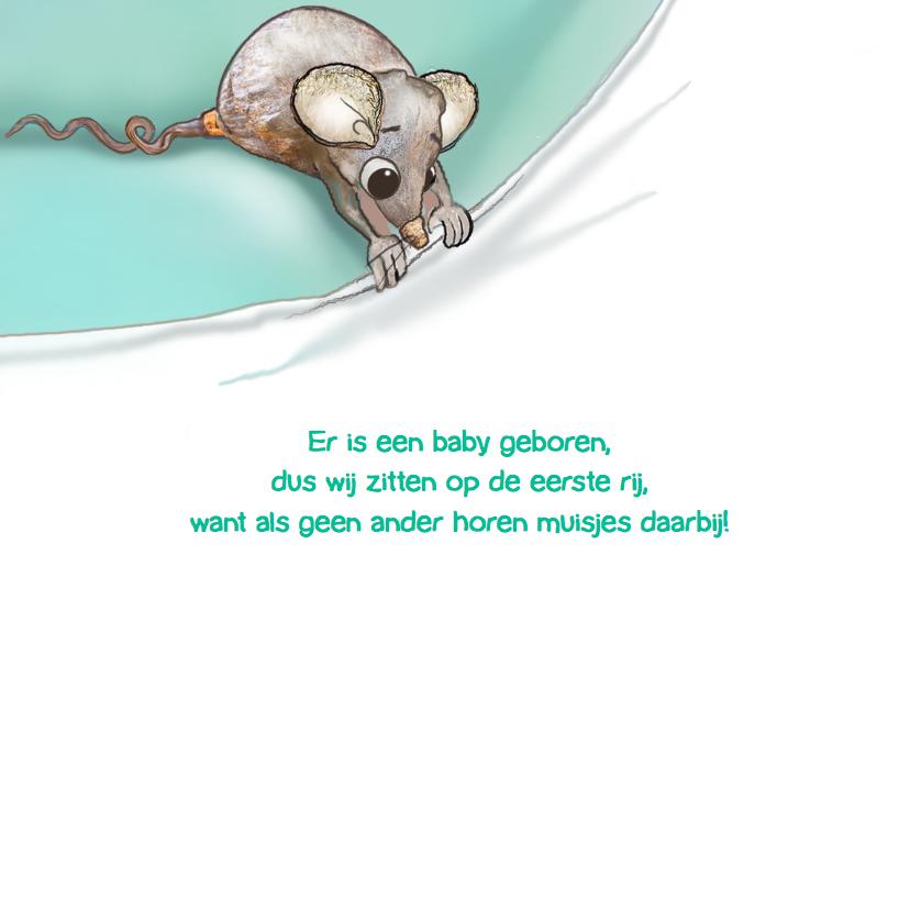 Geboortekaartje Muis met Flesje 2