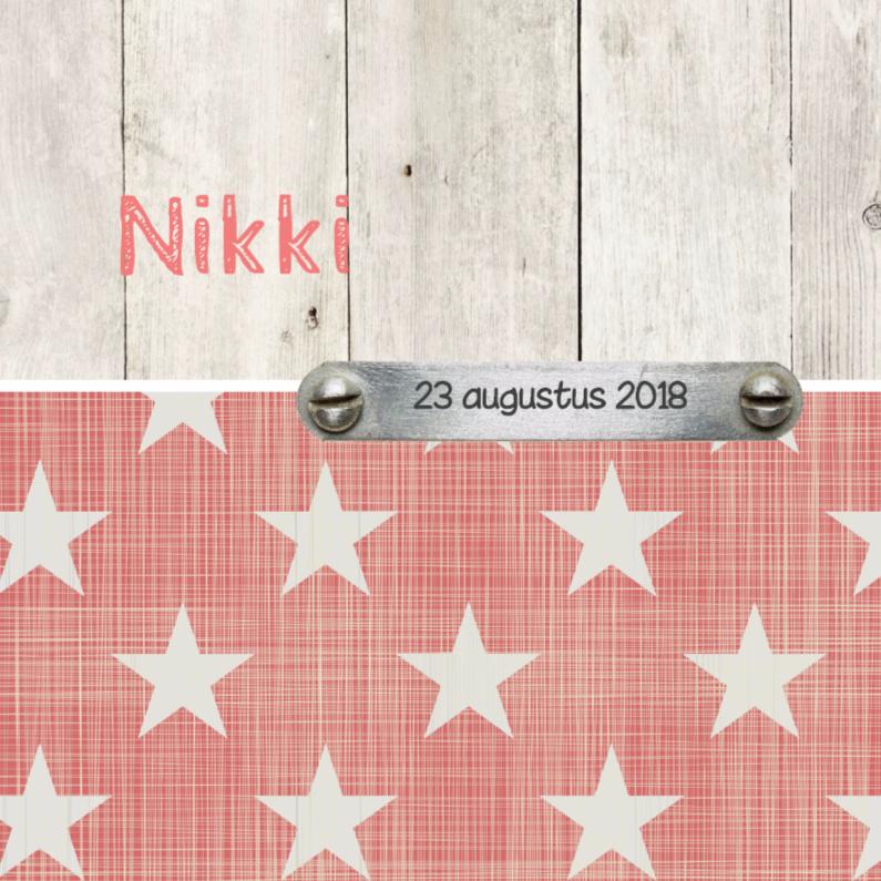 Geboortekaartje Nikki 1