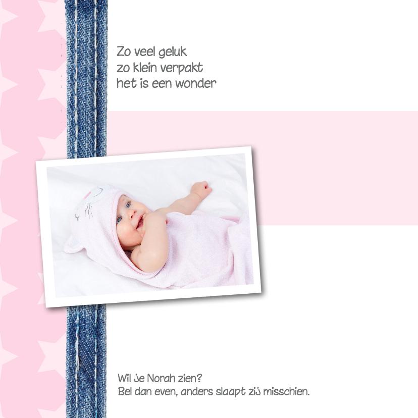 Geboortekaartje Norah 2