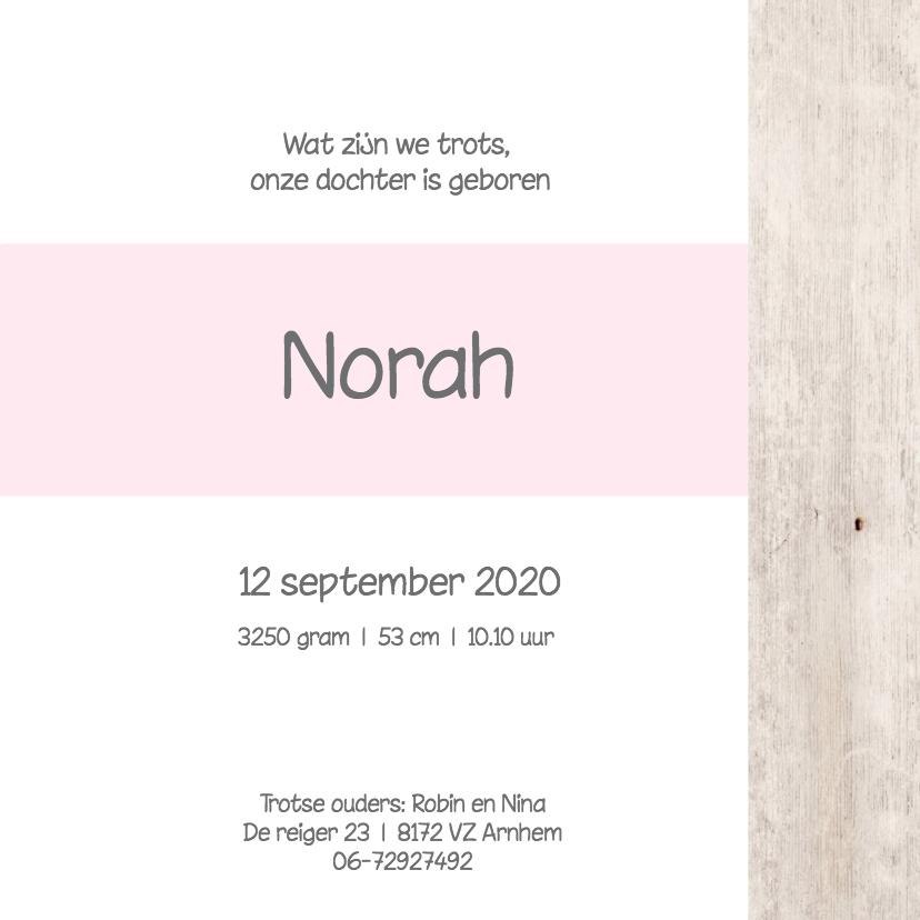 Geboortekaartje Norah 3