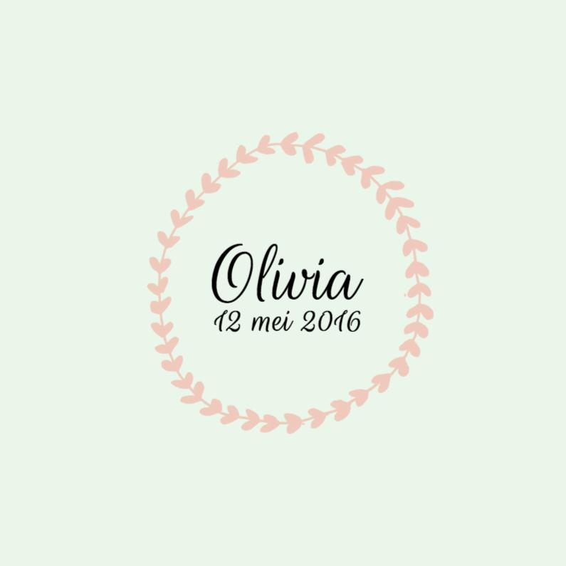 Geboortekaartje Olivia 1