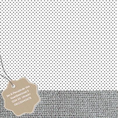Geboortekaartje pink breipatroon 2