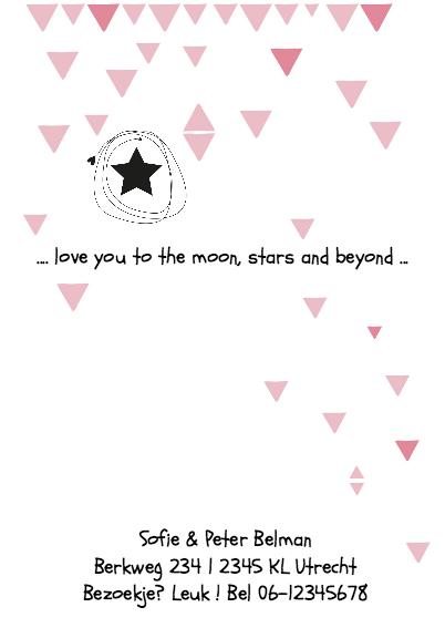 Geboortekaartje Poster Maud 2