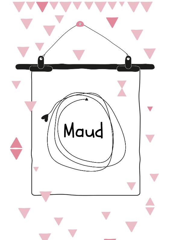 Geboortekaartje Poster Maud 1