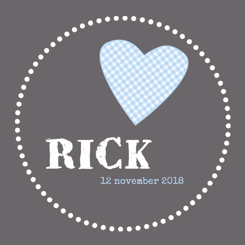 Geboortekaartje Rick HC 1
