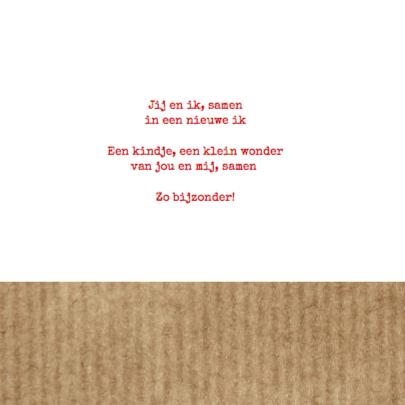 Geboortekaartje rode oldtimer 2