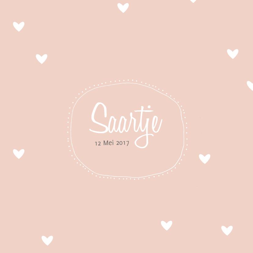 Geboortekaartje Saartje - HM 1
