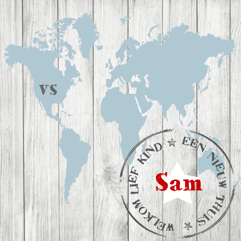 Geboortekaartje Sam 1