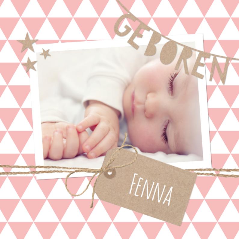 Geboortekaartje Slinger Fenna 1