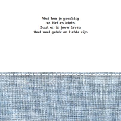 Geboortekaartje Stars&Jeans Blue 2