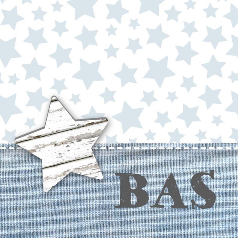 Geboortekaartje Stars&Jeans Blue 1