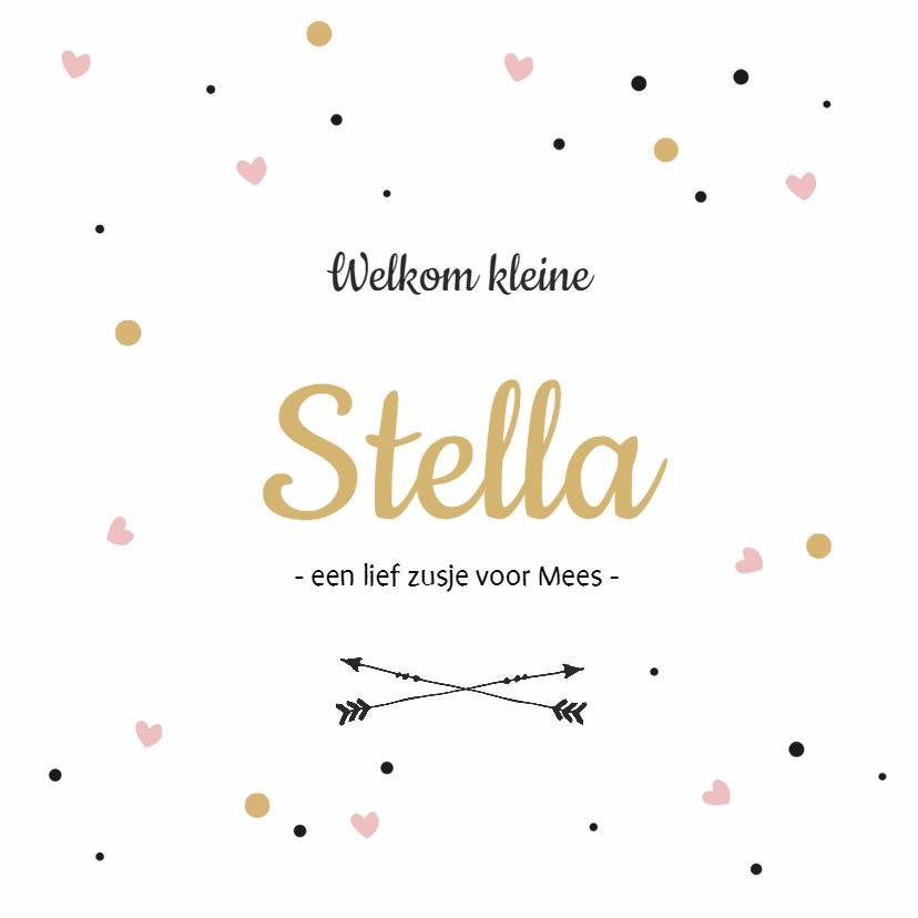 Geboortekaartje Stella  1