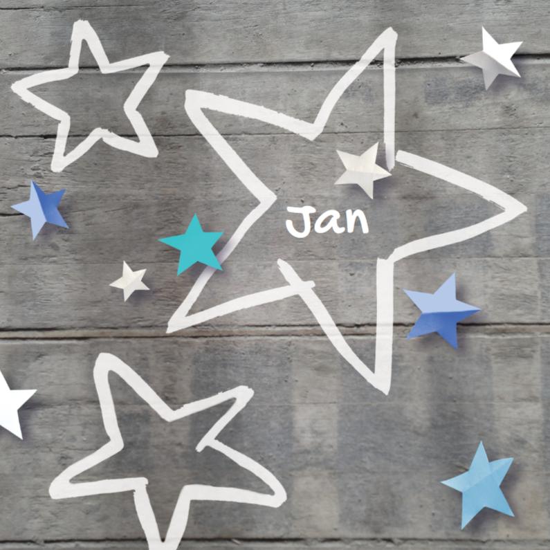 Geboortekaartje ster Jan 1