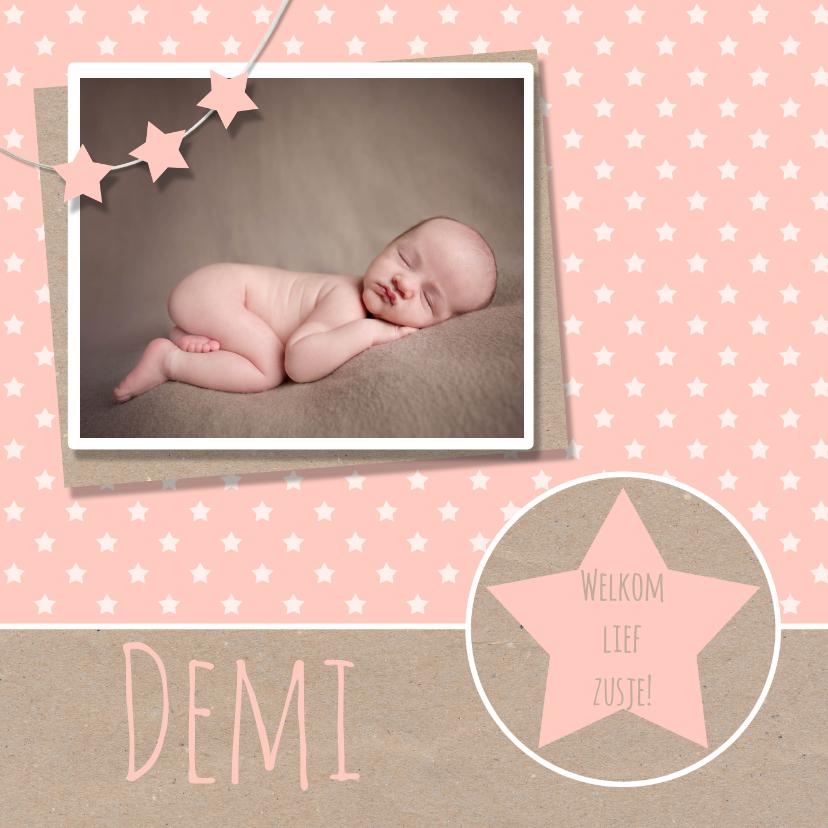 Geboortekaartje ster karton  1