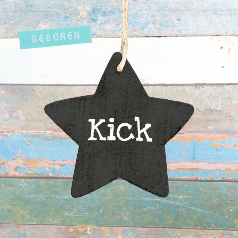 Geboortekaartje ster Kick 1