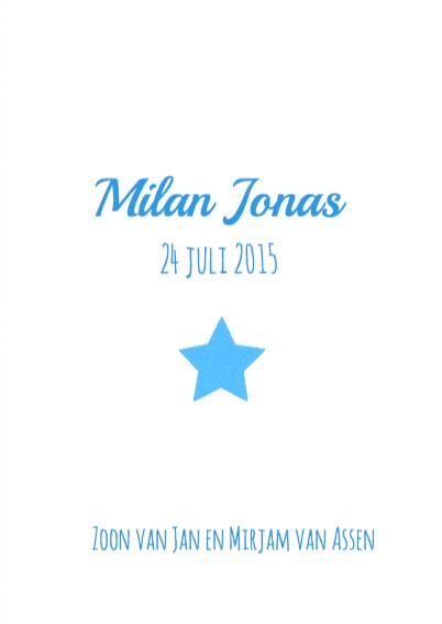 Geboortekaartje sterren Jonas 3
