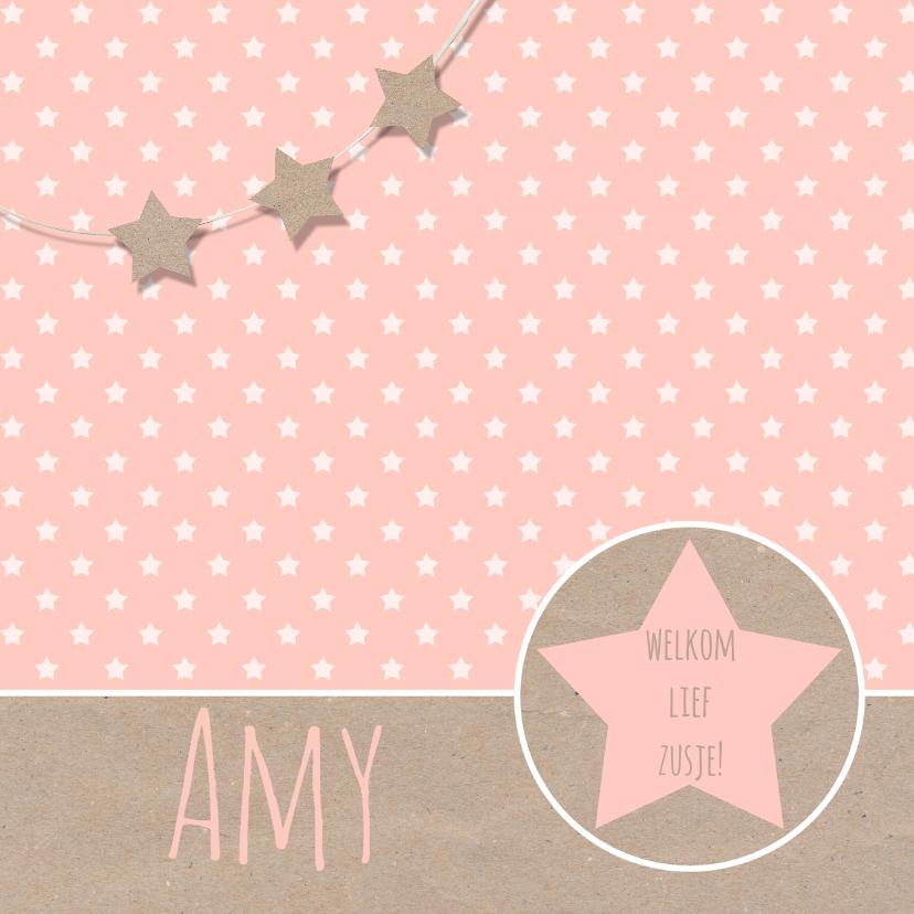 Geboortekaartje sterren kraft  1