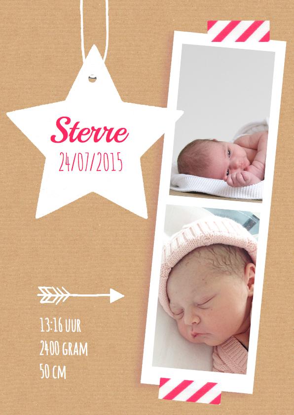 Geboortekaartje sterren Sterre 1