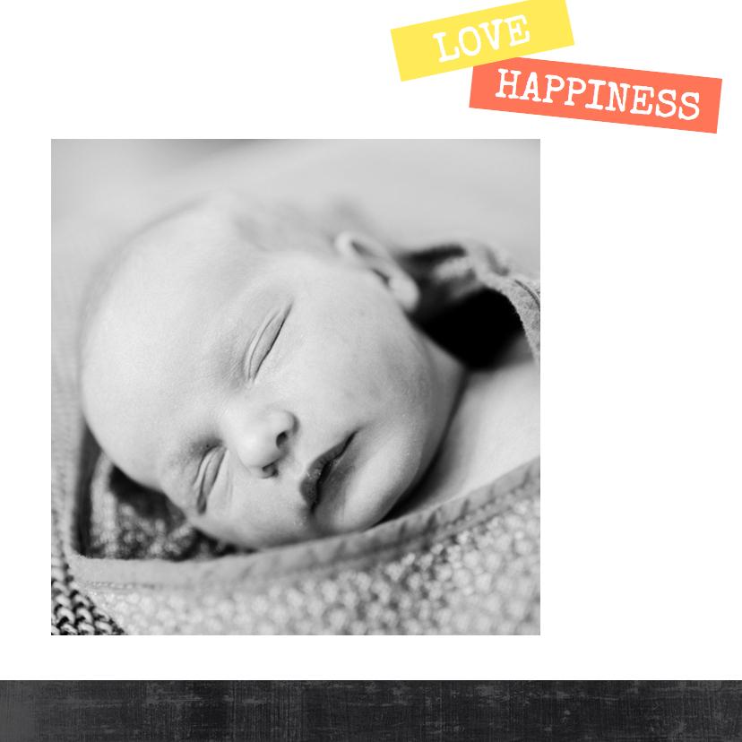 Geboortekaartje stoer en trendy 2