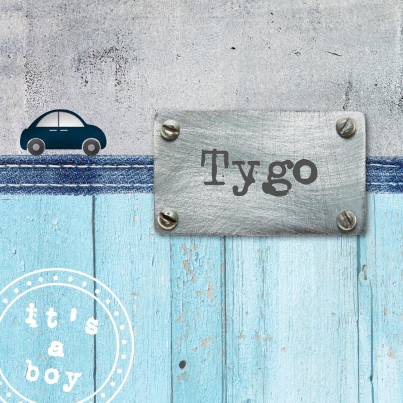 Geboortekaartje Tygo 1