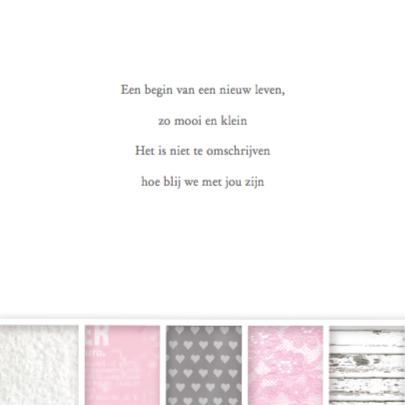 Geboortekaartje Vakjes Lief Meisje 2