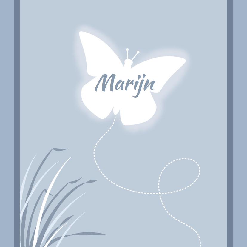 Geboortekaartje vlinder - HE 1
