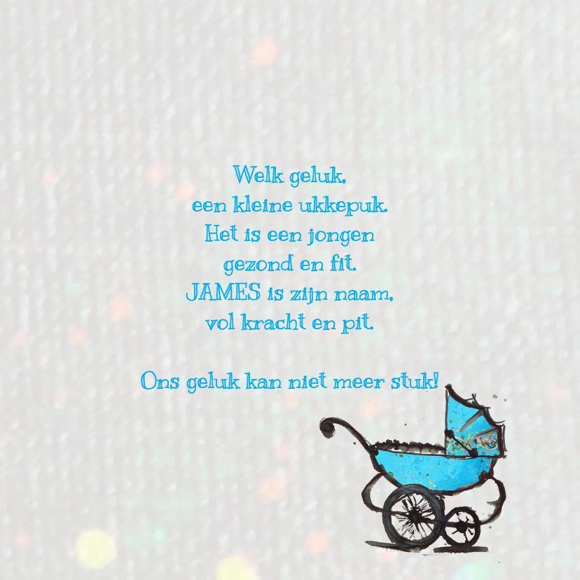 geboortekaartje wagen jongen 3