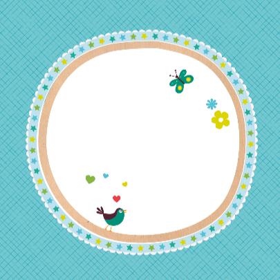 Geboortekaartje wiegje blauw 3