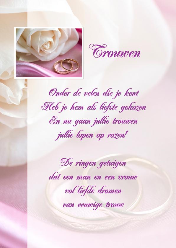 Gedichtenkaart felicitatie huwelijk kaartje go