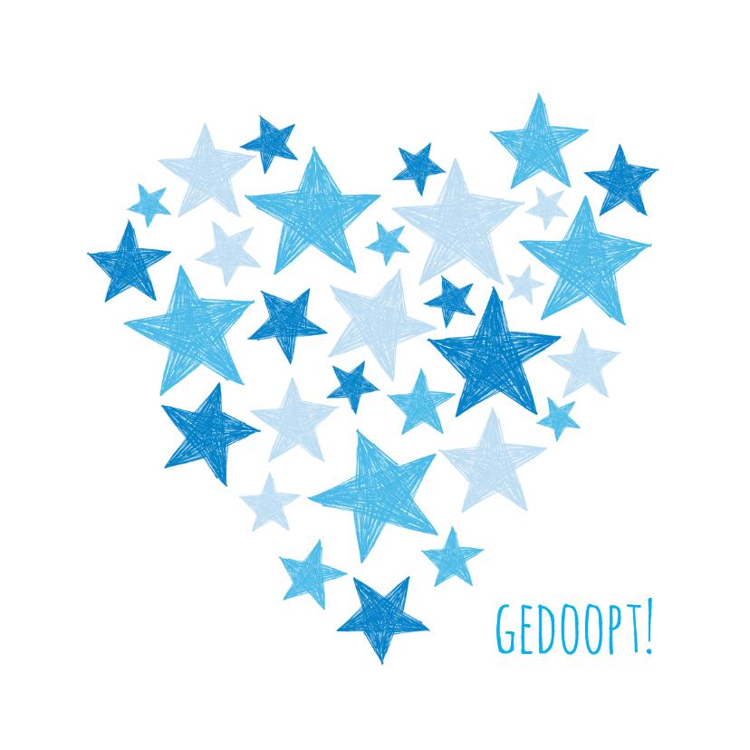 Gedoopt blauwe sterren en hart 1