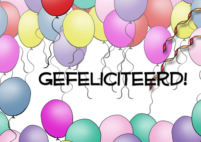 Gefeliciteerd - ballonnen 1