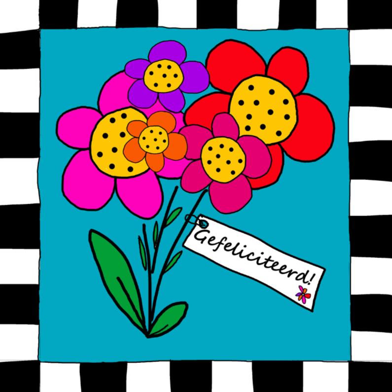 Gefeliciteerd I bloemen 1