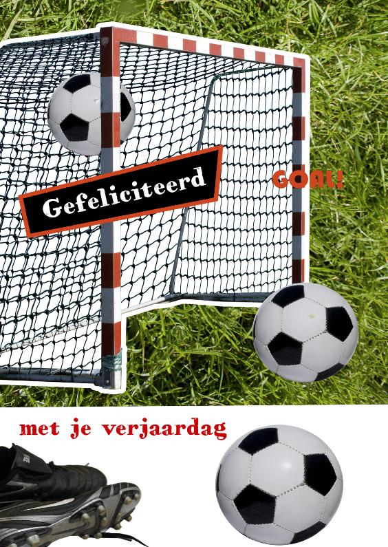Gefeliciteerd voetbal goal 1