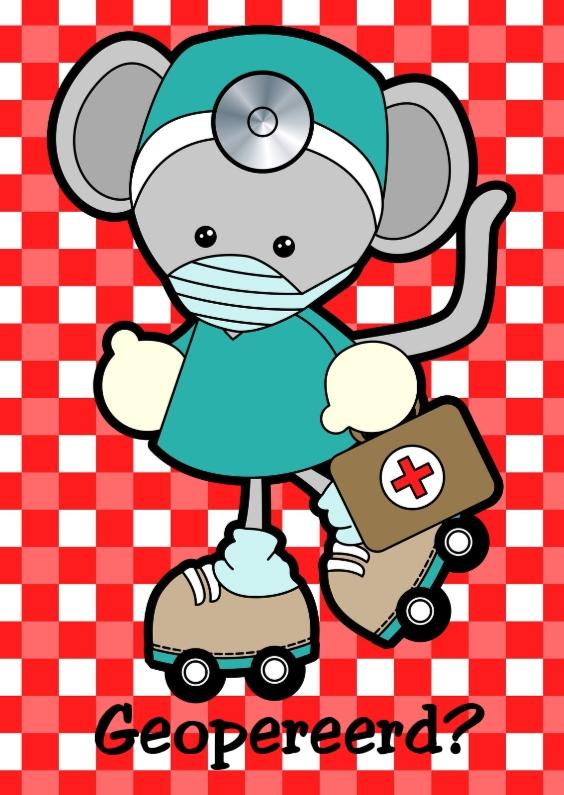 Geopereerd muis dokter 1