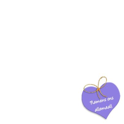 Geraniums in mand met hart Gefeliciteerd 3