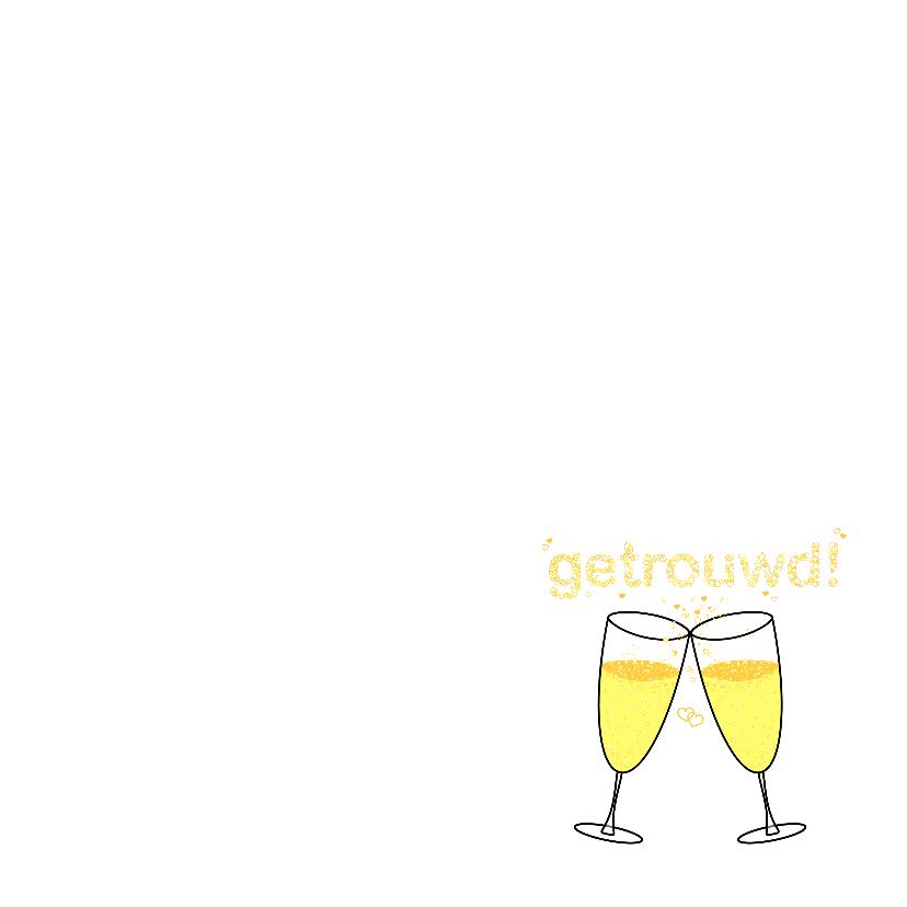 GETROUWD sterren champagne bubbels 3